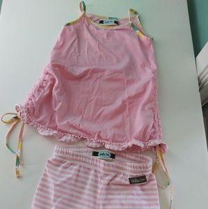 Matilda jane boutique pink stripe 2 pc set 18m/2